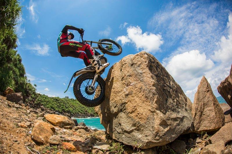 Trial con rocas